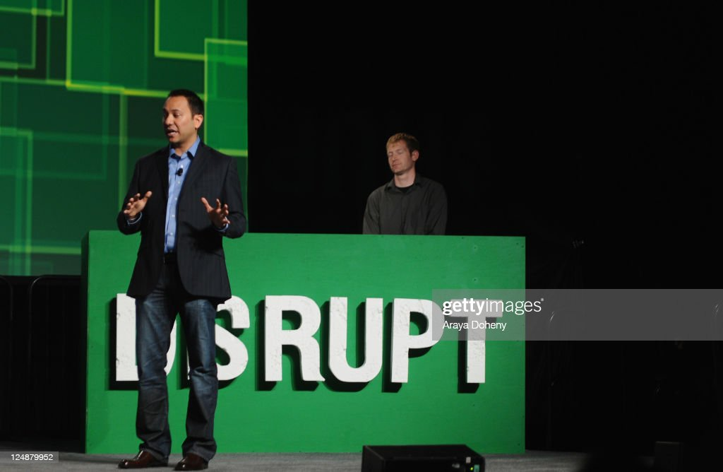 SizeUp CEO Anatalio Ubalde (L) and SizeUp Product Manager Eric Simundza speak onstage at Day 2 of TechCrunch Disrupt SF 2011 held at the San Francisco Design Center Concourse on September 13, 2011 in San Francisco, California.
