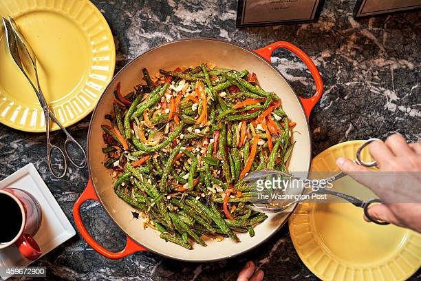 Sizzled String Beans with ginger red pepper and toasted cashews at Equinox in Washington DC