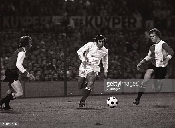 Sjaak Swart during the match between Feyenoord and Ajax on April 15 1972 at the Kuip stadium in Rotterdam The Netherlands