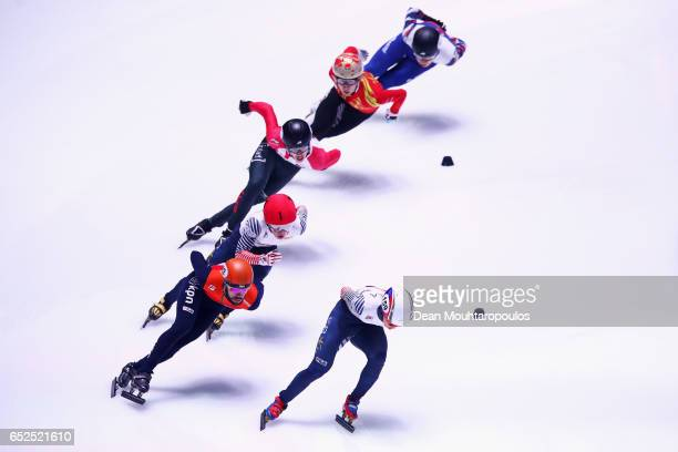 Sjinkie Knegt of the Netherlands #8 Seo Yi Ra of South Korea #144 Victor An of Russia #7 Samuel Girard of Canada #6 Wu Dajing of China #2 Charles...