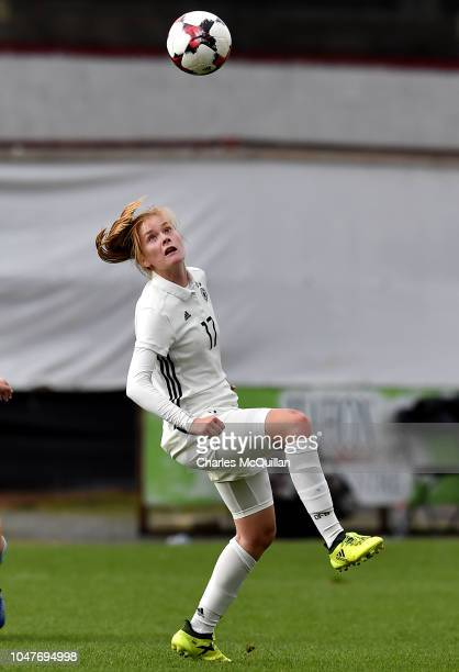 Sjoeke Nusken of Germany during the UEFA Women's Under 19 Group 9 Euro Qualifier at Shamrock Park between Northern Ireland and Germany on October 8,...