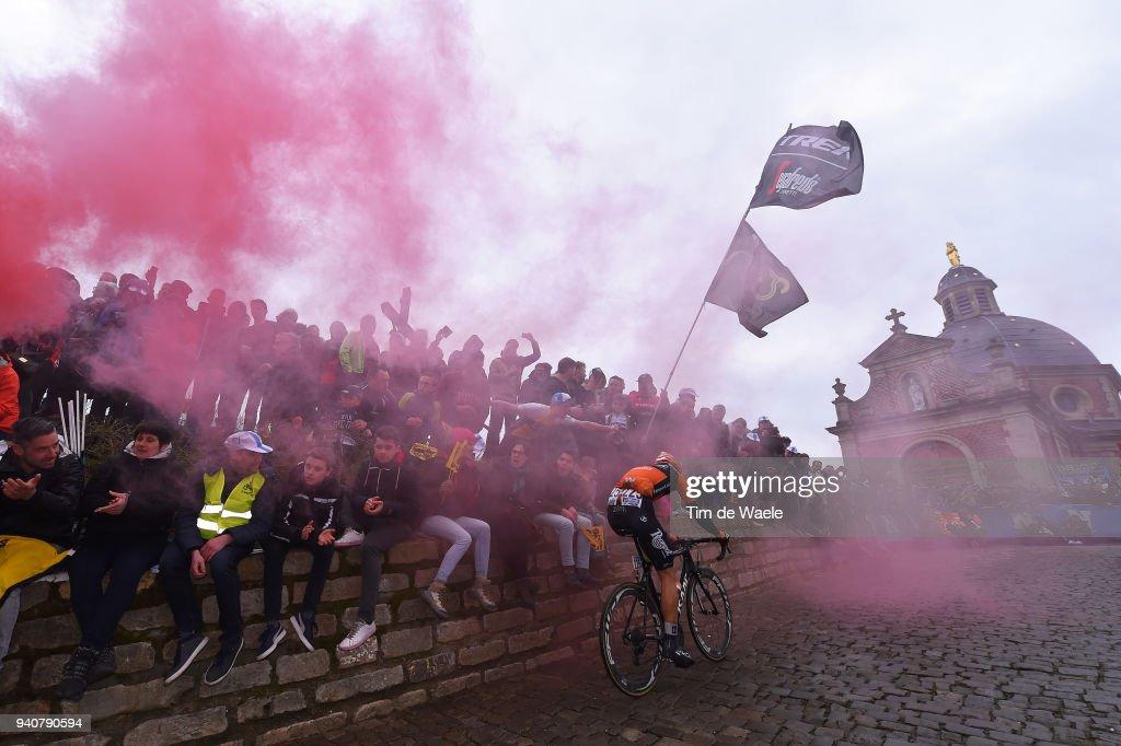 Sjoerd Van Ginneken of The Netherlands and Team Roompot - Nederlandse Loterij / De Muur van Geraardsbergen / during the 102nd Tour of Flanders 2018 - Ronde Van Vlaanderen a 264,7km race from Antwerpen to Oudenaarde on April 1, 2018 in Oudenaarde, Belgium.