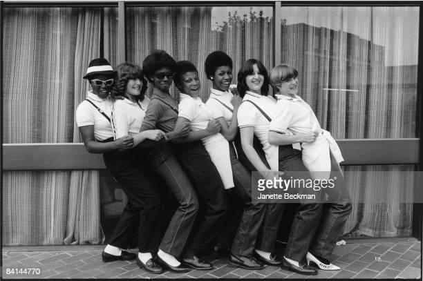 Ska girls having a little bit of fun in Coventry 1980