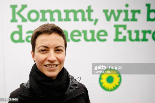 Ska Keller lead candidate for the German Greens Party in European parliamentary elections attends an election campaign event on April 29 2019 in...