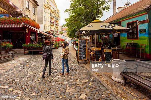 skadarlija street in belgrade, serbia - belgrade stock pictures, royalty-free photos & images