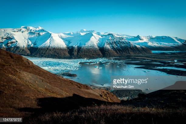 skaftafell glacier - 氷河湖 ストックフォトと画像