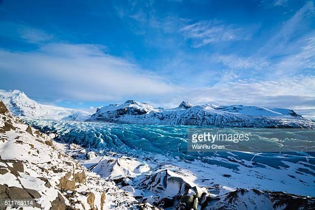 skaftafell glacier - バトナ氷河 ストックフォトと画像