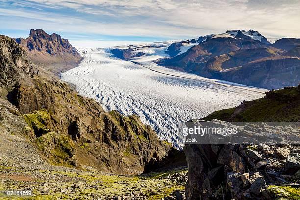 skaftafellsjökull、アイスランド - バトナ氷河 ストックフォトと画像