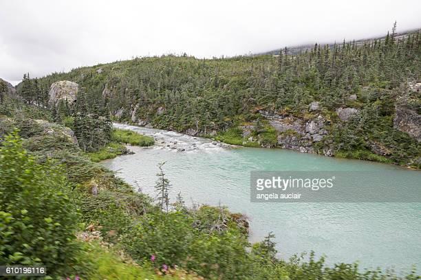 skagway, alaska - the white pass yukon route railroad - アラスカ文化 ストックフォトと画像