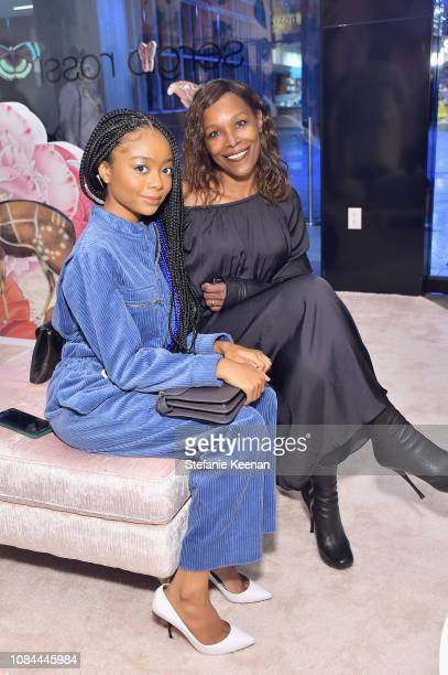 Skai Jackson and Stephanie Covington Armstrong attend Sergio Rossi Elizabeth Stewart Celebrate Capsule Collection at PopUp at Westfield Century City...