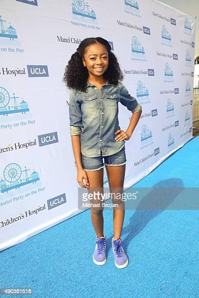 Skai Jackson arrives at Mattel Children's Hospital UCLA 16th Annual Party On The Pier Fundraiser at Santa Monica Pier on September 27 2015 in Santa...