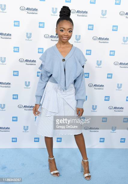 Skai Jackson arrives at WE Day California 2019 at The Forum on April 25 2019 in Inglewood California