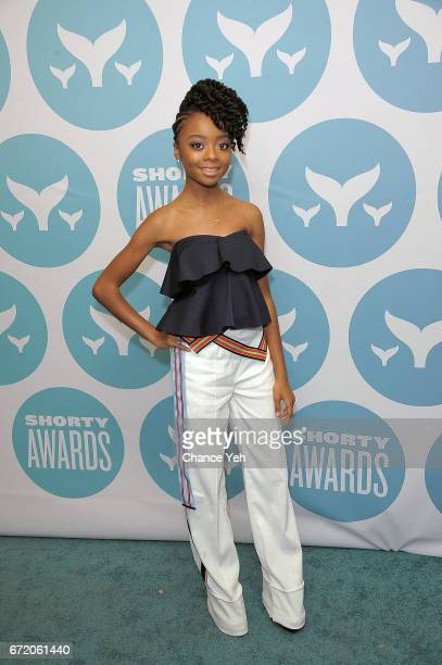 Skai Jackson attends 9th Annual Shorty Awards at PlayStation Theater on April 23 2017 in New York City