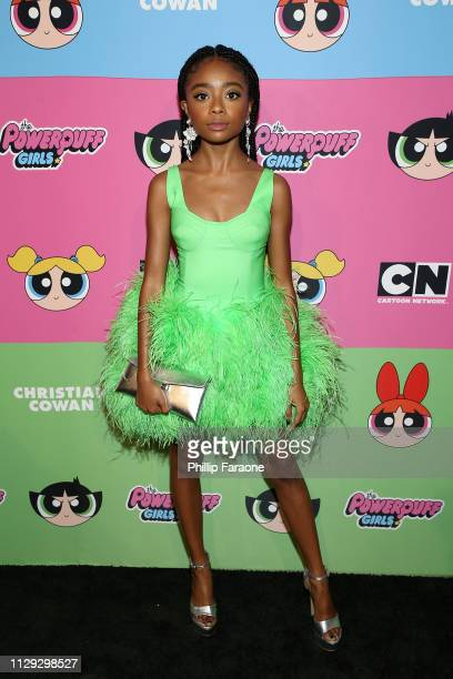Skai Jackson attends Christian Cowan x The Powerpuff Girls at City Market Social House on March 8, 2019 in Los Angeles, California.