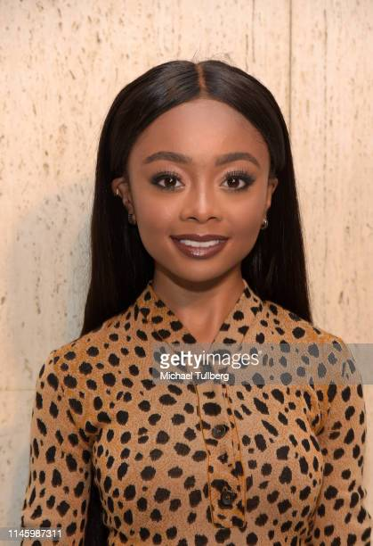 Skai Jackson attends Christopher Kane's party at Giorgio's on April 29 2019 in Los Angeles California