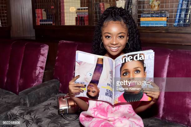 Skai Jackson attends Marie Claire Celebrates Fifth Annual 'Fresh Faces' in Hollywood with SheaMoisture Simon G and Sam Edelman at Poppy on April 27...