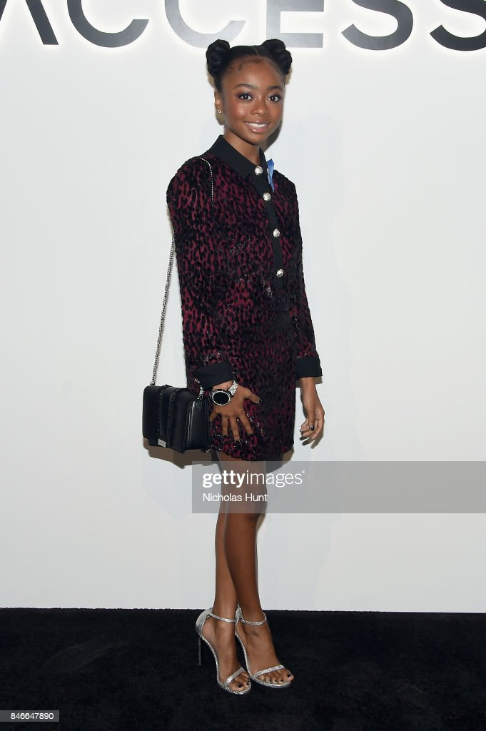 Skai Jackson attends Michael Kors and Google Celebrate new MICHAEL KORS ACCESS Smartwatches at ArtBeam on September 13, 2017 in New York City.