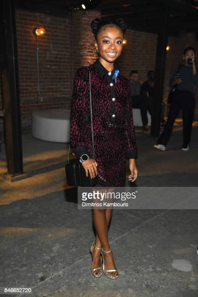 Skai Jackson attends Michael Kors and Google Celebrate new MICHAEL KORS ACCESS Smartwatches at ArtBeam on September 13 2017 in New York City