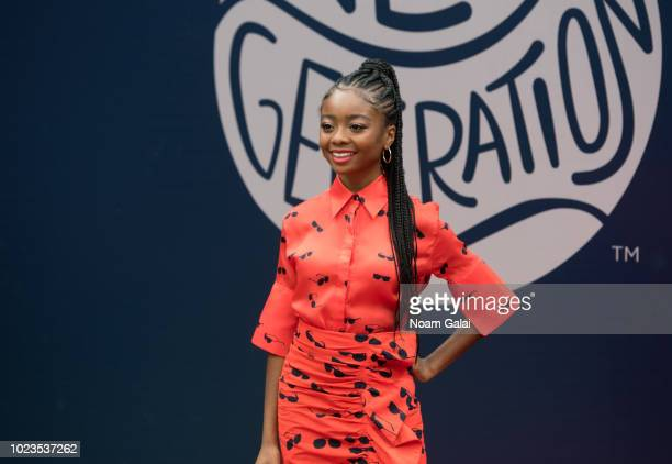 Skai Jackson attends the 2018 Arthur Ashe Kids' Day at USTA Billie Jean King National Tennis Center on August 25 2018 in New York City