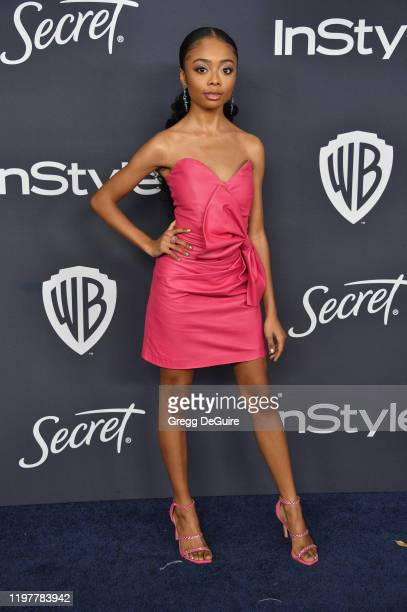Skai Jackson attends the 21st Annual Warner Bros. And InStyle Golden Globe After Party at The Beverly Hilton Hotel on January 05, 2020 in Beverly...