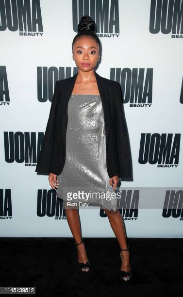Skai Jackson attends the House of Uoma's launch of the Uoma Beauty makeup brand at NeueHouse Hollywood on April 25, 2019 in Los Angeles, California.