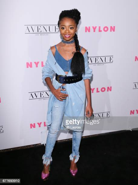 Skai Jackson attends the NYLON Young Hollywood Party at AVENUE Los Angeles on May 2 2017 in Los Angeles California