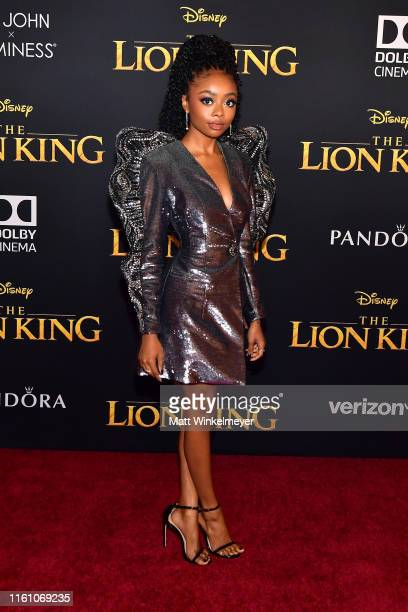 Skai Jackson attends the premiere of Disney's The Lion King at Dolby Theatre on July 09 2019 in Hollywood California