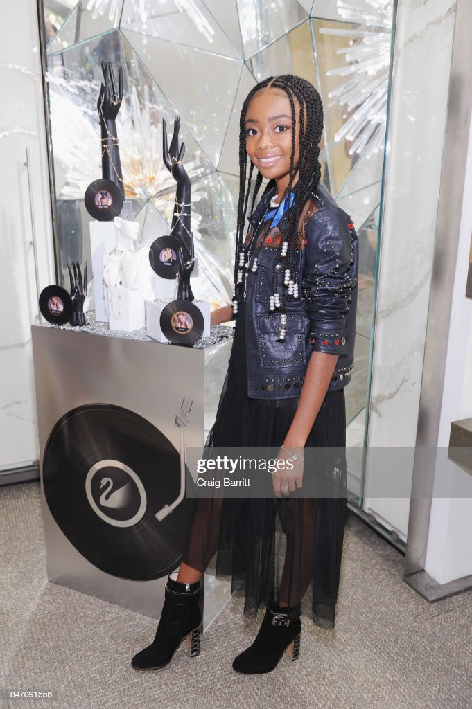 Skai Jackson attends the REMIX Your Style - Swarovski Collection Launch at Rockefeller Center on September 14, 2017 in New York City.
