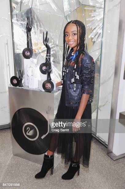 Skai Jackson attends the REMIX Your Style Swarovski Collection Launch at Rockefeller Center on September 14 2017 in New York City