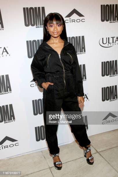 Skai Jackson attends UOMA Beauty Summer Party on August 10 2019 in Beverly Hills California