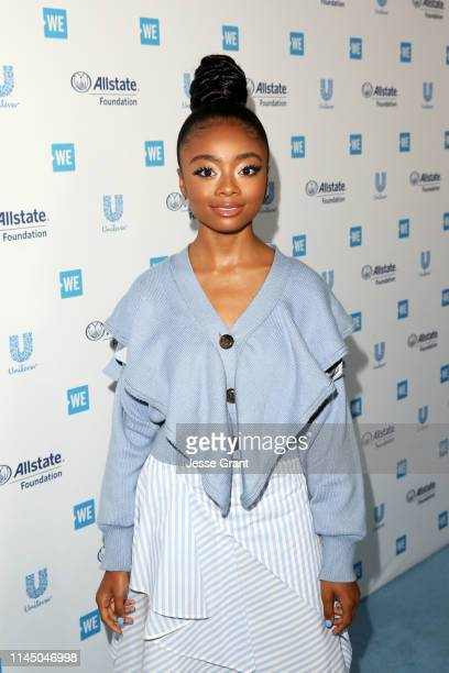 Skai Jackson attends WE Day California at The Forum on April 25 2019 in Inglewood California