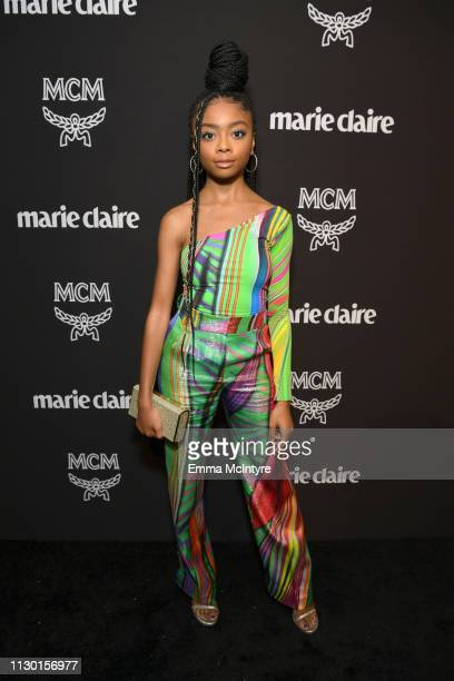 Skai Jackson is seen as Marie Claire honors Hollywood's Change Makers on March 12, 2019 in Los Angeles, California.
