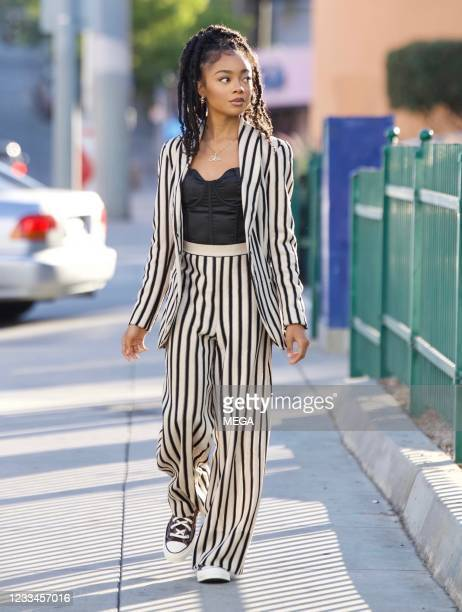 Skai Jackson is seen on June 14, 2021 in Los Angeles, California.