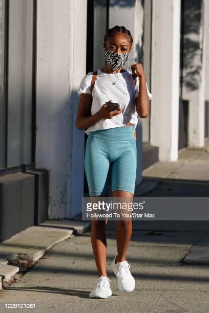 Skai Jackson is seen on October 16 2020 in Los Angeles California