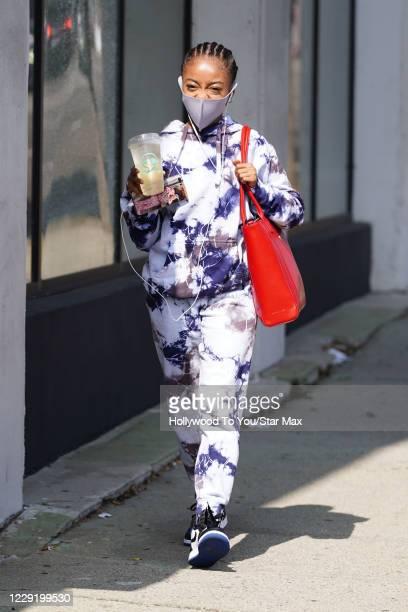 Skai Jackson is seen on October 20 2020 in Los Angeles California