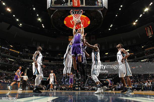 Skal Labissiere of the Sacramento Kings goes to the basket against the Memphis Grizzlies on January 20 2017 at FedExForum in Memphis Tennessee NOTE...