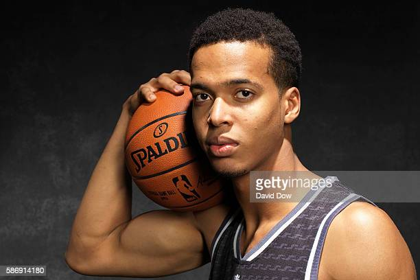 Skal Labissiere of the Sacramento Kings poses for a photo during the 2016 NBA Rookie Shoot on August 7 2016 at the Madison Square Garden Training...