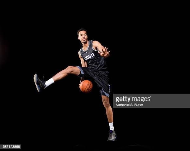 Skal Labissiere of the Sacramento Kings poses for a portrait during the 2016 NBA rookie photo shoot on August 7 2016 at the Madison Square Garden...