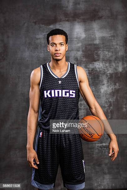 Skal Labissiere of the Sacramento Kings poses for a portrait during the 2016 NBA Rookie Photoshoot at Madison Square Garden Training Center on August...