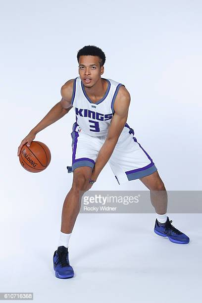Skal Labissiere of the Sacramento Kings poses for a portrait on NBA media day on September 26 2016 at the Kings practice facility in Sacramento...