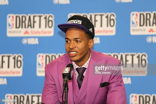Skal Labissiere speaks with the media after being selected number twentyeight overall by the Phoenix Suns and later traded to the Sacramento Kings...