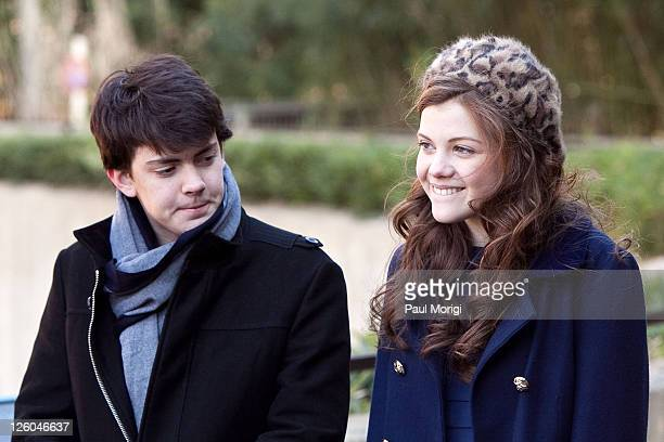 Skandar Keynes and Georgie Henley who star in the upcoming holiday motion picture event The Chronicles of Narnia The Voyage of the Dawn Treader...
