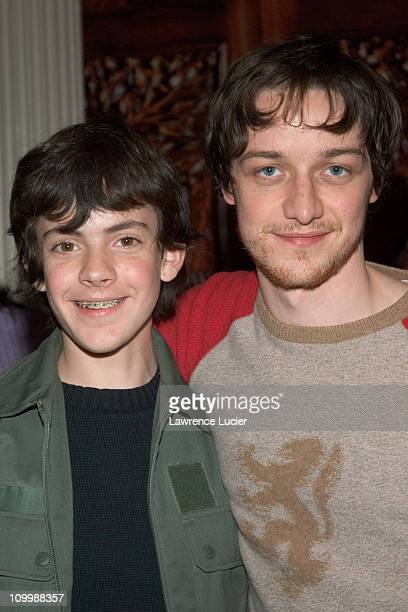 Skandar Keynes and James McAvoy during Cast Signing for The Chronicles of Narnia The Lion the Witch and the Wardrobe at Barnes Noble in New York City...