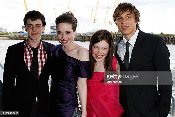 COVERAGE** Skandar Keynes Anna Popplewell Georgie Henley and William Moseley arrive by boat to the UK Premiere of The Chronicles of Narnia Prince...