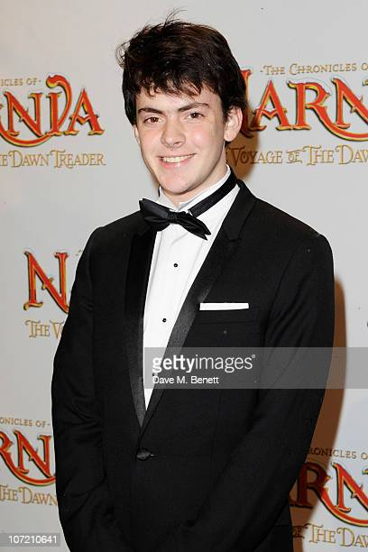 Skandar Keynes arrives at the Royal Film Performance and World Premiere of 'The Chronicles Of Narnia The Voyage Of The Dawn Treader' at Odeon...