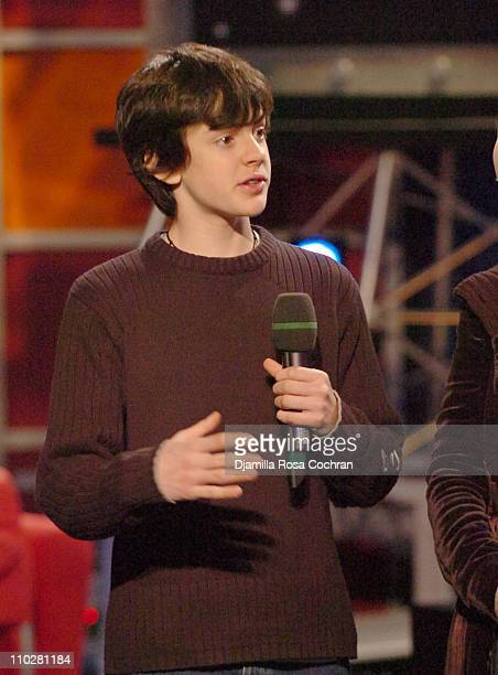 Skandar Keynes during Anna Popplewell and Skandar Keynes of The Chronicles of Narnia Visit Fuse's Daily Download December 9 2005 at Fuse Studios in...