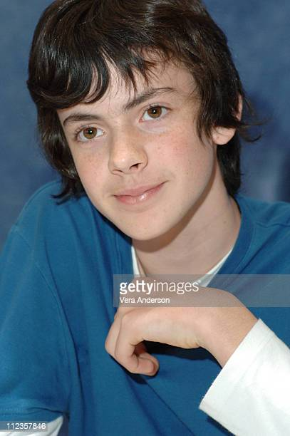 Skandar Keynes during The Chronicles of Narnia The Lion the Witch and the Wardrobe Press Conference with James McAvoy Andrew Adamson George Henley...
