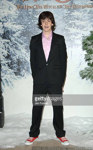 Skandar Keynes during The Chronicles of Narnia The Lion The Witch and the Wardrobe London Premiere Inside Arrivals at Royal Albert Hall in London...