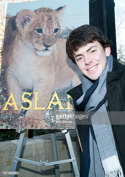 Skandar Keynes poses for a photo during the Smithsonian's National Zoo Lion Cub naming ceremony at Smithsonian National Zoological Park on December 9...