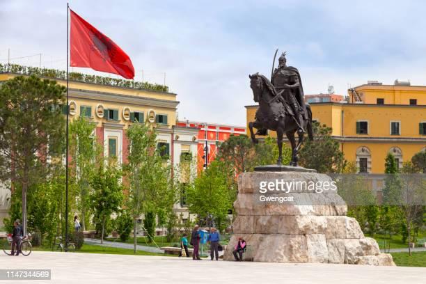 Skanderbeg Monument in Tirana